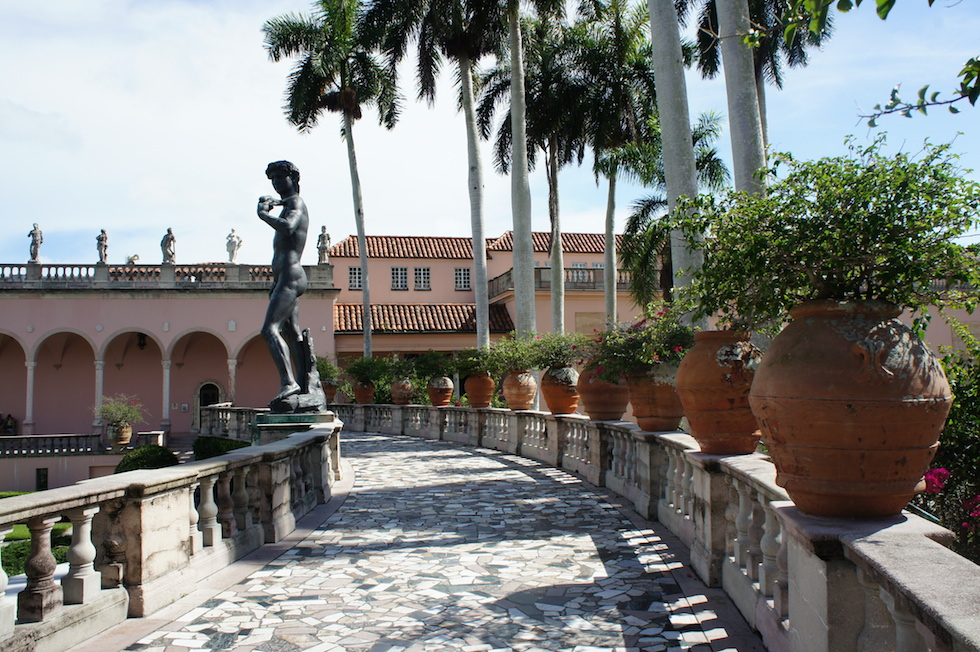 Nos jardins do Museu em Sarasota