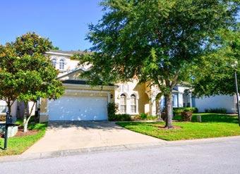 Espaçosa casa para alugar em Orlando entrada