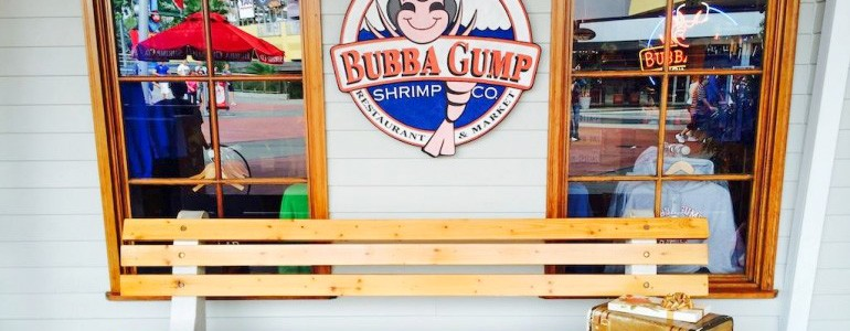 Fachada do Bubba Gump no City walk Orlando
