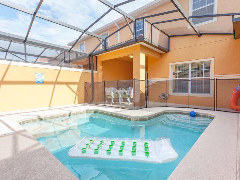 Aluguel de casa de temporada em Orlando piscina