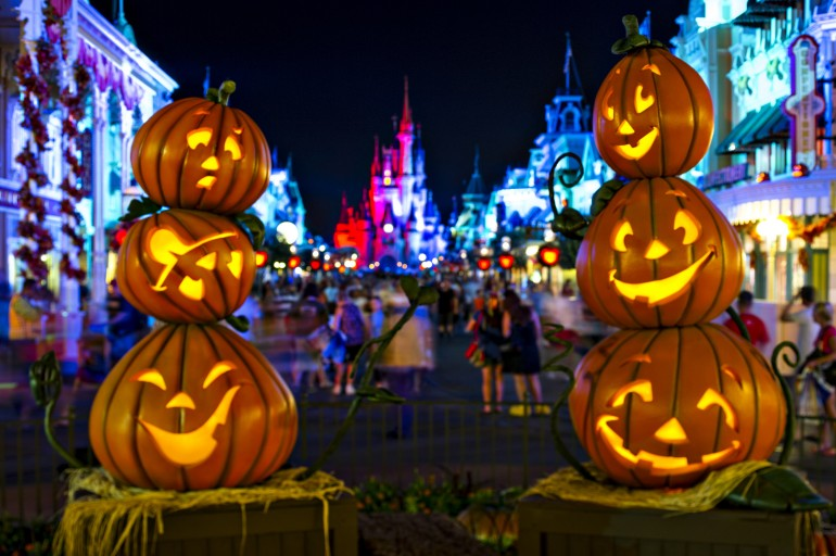 Jack-O-Lanterns Light Up Magic Kingdom